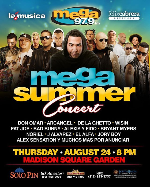 Mega Summer Concert - Concierto Urbano Más Grande del 2017